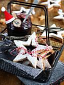 Star-Shaped Blackcurrant Jam Christmas Cookies