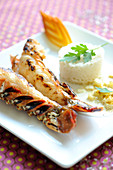 Curry-style coconut milk spiny lobster