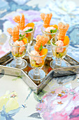 Langoustine and clementine appetizers