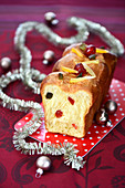 Candied fruit Christmas brioche