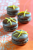 Chocolate and orange Macarons