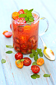 Cherry tomato chilled soup