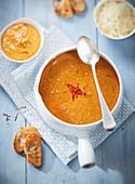 Velvet swimming crab soup