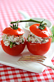 Fresh and cold stuffed tomatoes