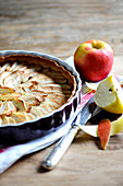 Traditional apple tart