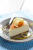 Slice of lemon cheese cake