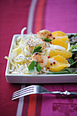 Scallop and orange winter salad