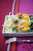 Scallop and orange winter salad