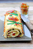 Candied fruit rolled sponge cake