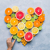 Citrus fruit heart