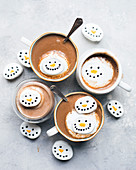 Snowmen hot chocolates