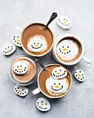 Heiße Schokolade Schneemann