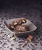 Chocolate and almond brownies