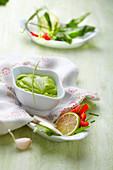 Garlic and fresh herb cream