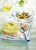 Green broad bean hummus