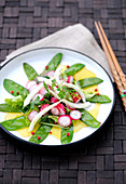 Sugar pea and radish salad