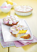 Lemon and marshmallow pie