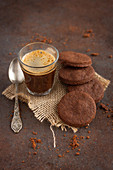 Chocolate biscuits and an expresso