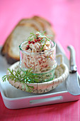 Potted tuna with pink peppercorns