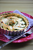 Sole and courgette tartlet
