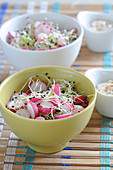 Radish and sprout salad