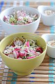 Radish and sprout salad