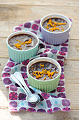 Chocolate-orange baked egg custards