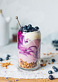 Yoghurt and blueberry Parfait