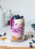 Yoghurt and blueberry Parfait