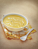 Cream of carrot soup with coconut cream