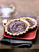 Chocolate and Espelette pepper chocolate tartlets