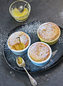 Individual lemon curd puddings
