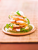 Individual cod and rocket lettuce crisp Mille-feuille