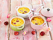 Small cherry Clafoutis,batter puddings