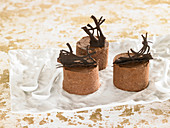 Chocolate mousse timbales