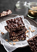 No bake chocolate and puffed rice bars