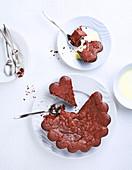Saftiger veganer Schokoladenkuchen, laktosefrei und ohne Butter