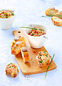 Lactose-free, butter-free tuna and tofu rillettes with paprika