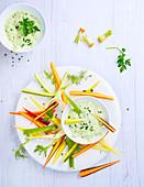 Dip für Gemüsesticks, laktosefrei und ohne Butter