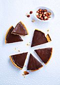 Schokoladentarte, laktosefrei und ohne Butter