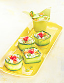 Zucchini Makis with Lump Eggs