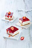 Square Strawberry Cheesecake