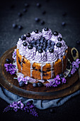 Heidelbeerkuchen mit Lavendel