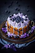 Blueberry lavender cake