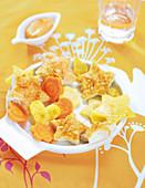 Chicken Star Nuggets And Fun Veggies For Children