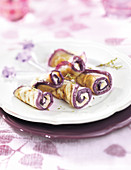 Aubergine Rolls With Garlic And Thyme Cream