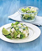 Diced Cucumber And Feta