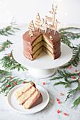 Christmas Chocolate Layer Cake