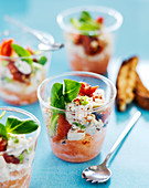 Potted Crab With Grapefruit,Confit Tomatoes,Cream And Espelette Pepper