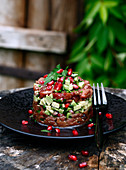 Beef Tartare With Avocado And Pomegranate